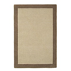 Debenhams - Neutral wool 'Bark Moorland' rug