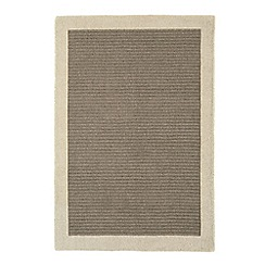 Debenhams - Neutral wool 'Sand Moorland' rug