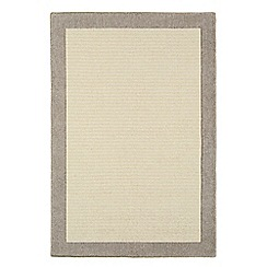 Debenhams - Neutral wool 'Stone Moorland' rug