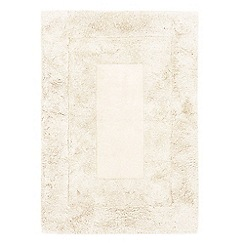 Debenhams - White wool 'Karma' rug