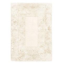 Debenhams - White wool 'Karma' rug