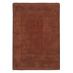 Debenhams - Chocolate brown wool 'Karma' rug