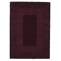 Debenhams - Purple wool 'Karma' rug