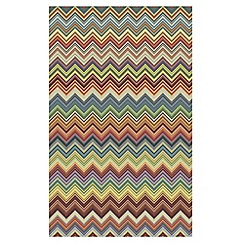 Debenhams - Multi-coloured zig-zag 'Bazaar' rug