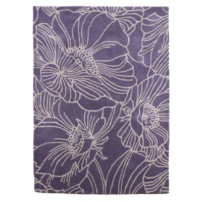 Betty Jackson.Black Betty Jackson ´Linear Flowers´ rug - . -