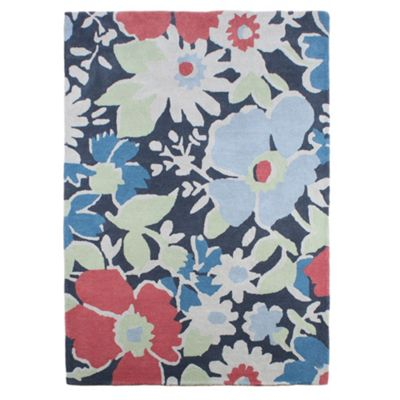At home with Ashley Thomas Ashley Thomas ´Floral Garden´ rug - . -