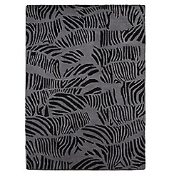 Star by Julien MacDonald - Grey and black wool 'Zebra Print' rug