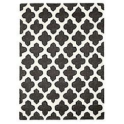 Debenhams - Charcoal grey wool 'Artisan' rug
