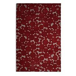 Debenhams - Crimson wool 'Bubbles' rug