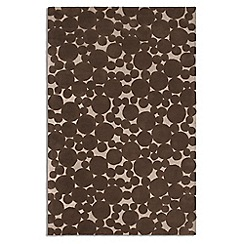Debenhams - Chocolate brown wool 'Bubbles' rug