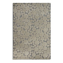 Debenhams - Grey wool 'Bubbles' rug