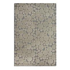 Debenhams - Grey wool 'Bubbles' rug