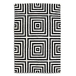 Debenhams - Black wool 'Frankie' rug