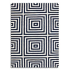 Debenhams - Dark blue wool 'Frankie' rug