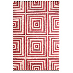 Debenhams - Rose pink wool 'Frankie' rug