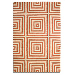 Debenhams - Orange wool 'Frankie' rug