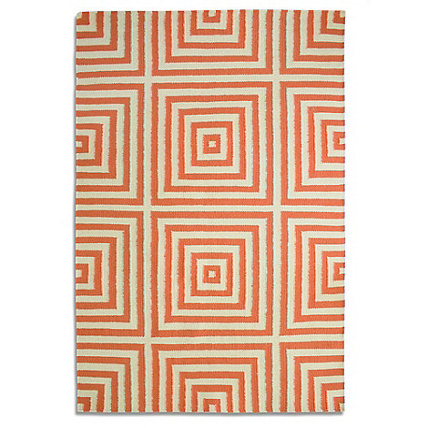 Debenhams - Orange wool +Frankie+ rug