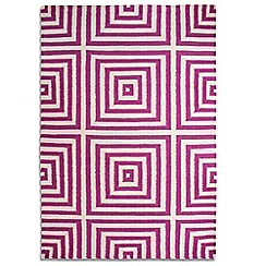 Debenhams - Purple wool 'Frankie' rug