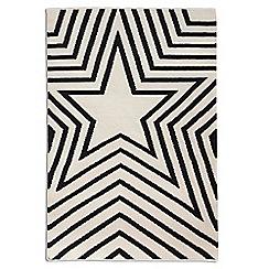 Debenhams - Black wool 'Freddie' rug