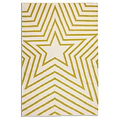 Debenhams - Lime green wool 'Freddie' rug