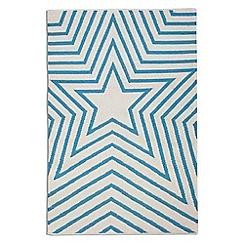 Debenhams - Blue wool 'Freddie' rug