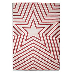 Debenhams - Rose pink wool 'Freddie' rug