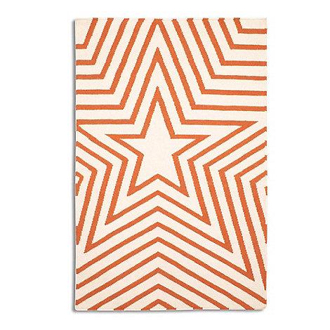Debenhams - Orange wool 'Freddie' rug