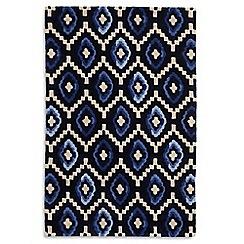 Debenhams - Blue wool 'Origins' rug