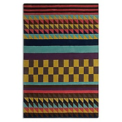 Debenhams - Multi-coloured wool 'Origins' rug