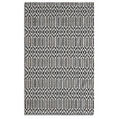Debenhams - Black wool 'Serengeti' rug