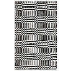 Plantation Rugs - Black wool 'Serengeti' rug