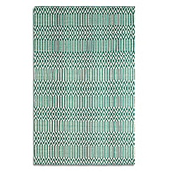 Debenhams - Green wool 'Serengeti' rug
