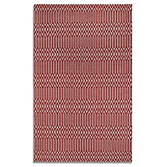 Debenhams - Red wool 'Serengeti' rug