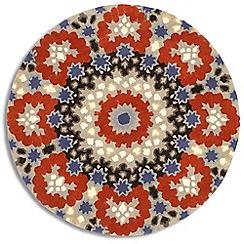 Debenhams - Blue wool circular 'Nomadic' rug