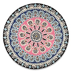 Debenhams - Multi-coloured wool circular 'Nomadic' rug
