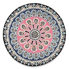Debenhams - Multi-coloured wool circular 'Nomadic' rug