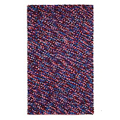 Debenhams - Purple wool 'Beans' rug