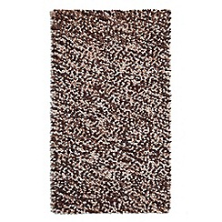 Debenhams - Brown wool 'Beans' rug
