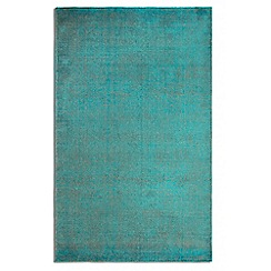Debenhams - Green wool 'Ocean' rug