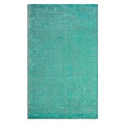 Debenhams - Turquoise wool 'Ocean' rug