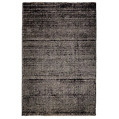 Debenhams - Black wool 'Ocean' rug