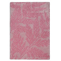 Debenhams - Pink wool 'Leaf' rug