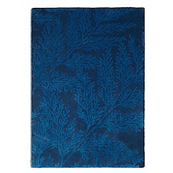 Debenhams - Blue wool 'Leaf' rug