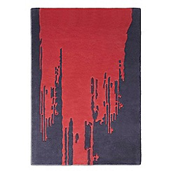 Debenhams - Red wool 'Punk' rug