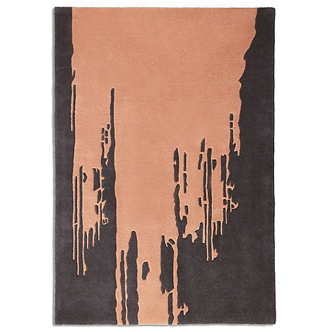 Debenhams - Peach wool 'Punk' rug