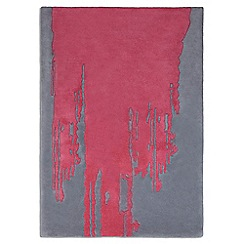 Debenhams - Pink wool 'Punk' rug