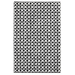 Debenhams - Black and white wool 'Geometric' rug