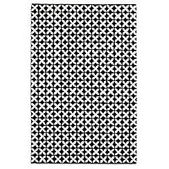Debenhams - Black and white wool 'Geometric' rug