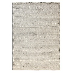 Debenhams - Beige wool 'Rope' rug