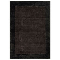 Debenhams - Chocolate brown woollen 'Ascot' rug
